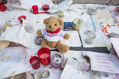 Memorial for the 14th july victim, Nice,France Royalty Free Stock Photos