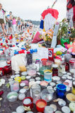 Memorial for the 14th july victim, Nice,France Royalty Free Stock Images