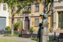 Memorial to Albert Schweitzer in Weimar. In Germany royalty free stock image