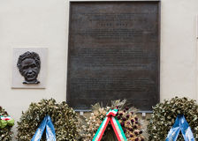 Memorial to Aldo Moro, in via Caetani, Rome Stock Photos