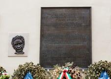 Memorial to Aldo Moro, in via Caetani, Rome Royalty Free Stock Image
