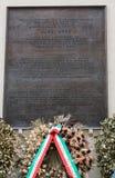 Memorial to Aldo Moro, in via Caetani, Rome Royalty Free Stock Images