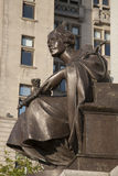 Memorial to Alfred Jones by Frampton and Royal Liver Building Royalty Free Stock Images