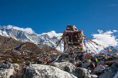 Memorial to all who died while climbing Everest, Khumbu, Nepal.  Stock Image