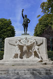Memorial to American Volunteers, honors WWI Soldier and Franco-American relationship during World War I - Paris, France - shot Aug Royalty Free Stock Photography