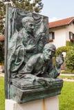 A memorial to authors of a Christmas carol. Oberndorf bei Salzburg, Austria - August 30, 2016: A memorial to Franz Xaver Gruber and Joseph Mohr - the authors of Stock Photos