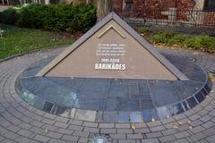 Memorial to the barricades Stock Photo