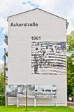 Memorial to Berlin Wall in Bernauer Strasse, Berlin - Germany Stock Photos