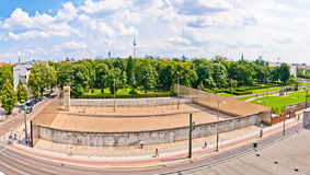 Memorial to Berlin Wall in Bernauer Strasse, Berlin - Germany Stock Photos