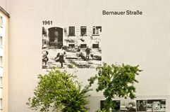 Memorial to Berlin Wall in Bernauer Strasse, Berlin - Germany Royalty Free Stock Image