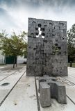 A memorial to children killed in the Homeland War in Croatia, interrupted childhood, Slavonski Brod, Croatia stock image