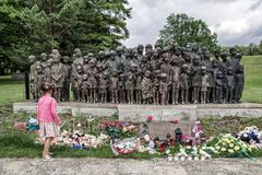 Memorial to the Children Victims of the War, Lidice - Czech repu Stock Photos