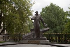 Memorial to crew of Kursk nuclear submarine in Moscow 21.07.2017 Royalty Free Stock Images
