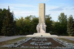 The memorial to the Defenders of the Motherland in Kamensk-Shakhtinsky. Royalty Free Stock Photos