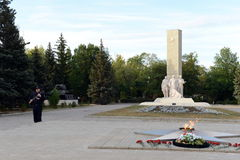 The memorial to the Defenders of the Motherland in Kamensk-Shakhtinsky. Royalty Free Stock Images