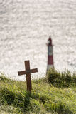 Memorial to the departed at Beachy Head Stock Photography