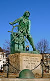 Memorial to fallen fishermen in Gloucester MA Royalty Free Stock Images