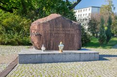 Memorial to the fallen by Nazi-germany between 1939 and 1945. Torun, Poland - September 29, 2017: Memorial to the fallen by Nazi-germany between 1939 and 1945 Stock Photography