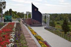 Memorial to fallen soldiers. City Elabuga. Tatarstan. royalty free stock photography