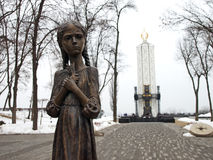 Memorial to the Holodomor Victims Stock Images