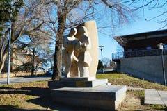 Memorial to the Italian immigrants, Treviso, Italy Stock Photo