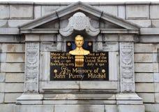 Memorial to John Purroy Mitchel stock photo