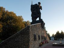 Memorial to those killed in World war 2 soldiers in the city of Yukhnov, Kaluga region (Russia). Stock Image