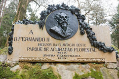 Memorial to king fernando II. in sintra Royalty Free Stock Images