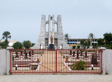 Memorial to Kwame Nkrumah in Accra Ghana. The monument dedicated to Kwame Nkrumah in Accra, Ghana in West Africa stock images