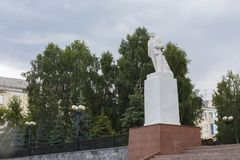 Memorial to Lenin in the park. royalty free stock images