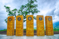 Memorial to Military Branches stock photography