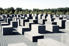 Memorial to the Murdered Jews in Berlin Royalty Free Stock Image