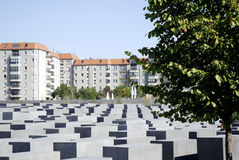 Memorial to the Murdered Jews in Berlin Royalty Free Stock Photo