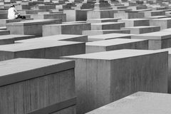 Memorial to murdered Jews, Berlin, Germany Stock Photo