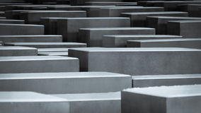 Memorial to the Murdered Jews of Europe, Berlin. Full-frame, abstract detail of a snow-capped of the Memorial to the Murdered Jews of Europe, more commonly Stock Photos