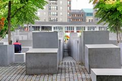 The Memorial to the Murdered Jews of Europe in Berlin Royalty Free Stock Image