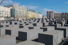 Memorial to murdered Jews in Europe Stock Photos