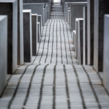 Memorial to the Murdered Jews of Europe, Berlin. Royalty Free Stock Images