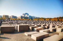 Memorial to the Murdered Jews of Europe in Berlin Stock Image