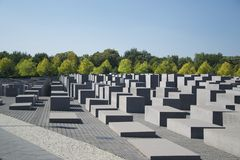 Memorial to the Murdered Jews of Europe, Berlin Stock Image