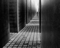 The Memorial to the Murdered Jews of Europe in Berlin Royalty Free Stock Images