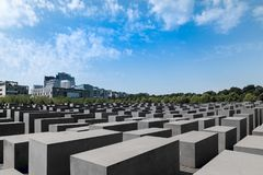 Memorial to the Murdered Jews of Europe stock images