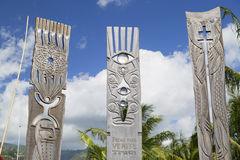 Memorial to nuclear testing in Jardins de Paofai, Pape'ete, Tahiti, French Polynesia Stock Images