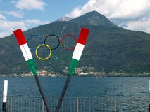 Memorial to Olympic athletes in rowing. Stock Image