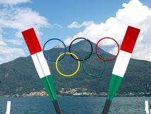 Memorial to Olympic athletes in rowing. Royalty Free Stock Photography