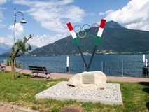 Memorial to Olympic athletes in rowing. Stock Images