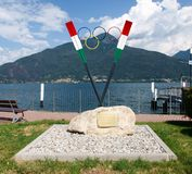 Memorial to Olympic athletes in rowing. Royalty Free Stock Photo