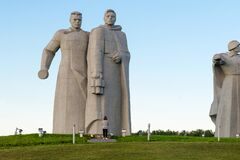 Memorial to Panfilov Heroes. Ready for battle!