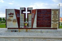 Memorial to Polish citizens in Przemysl, Poland stock photo