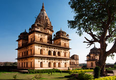 Memorial to the rulers of Orchha city, India Royalty Free Stock Photography